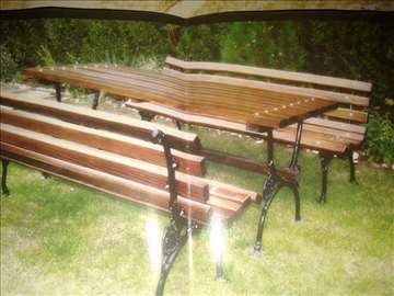 Bastenske garniture klupe stolovi