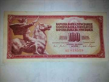 100 dinara , 1965 godina , 6 brojeva