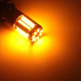 BA15S LED sijalice za migavce žuto/narandžaste PAR