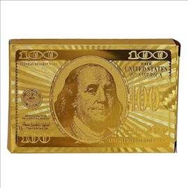 Poker karte 100$ GOLD