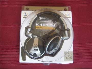 AKG K181 DJ, profesionalne DJ slusalice, novo