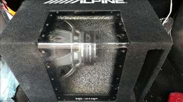 Alpine subwoofer 800w i blaupunkt pojacalo 800w
