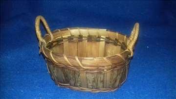 Drvena pletena korpica