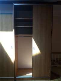 Klizni plakar (američki plakar) 256x124x65 cm