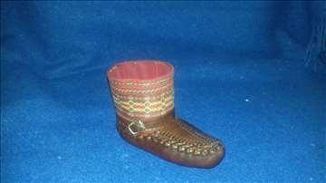 Mali kožni opanak - ukras/suvenir