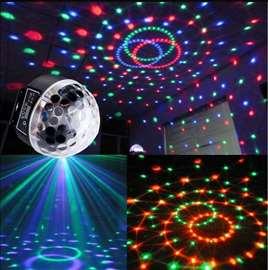 Disko kugla MP3 LED USB daljinski disko LED kugla