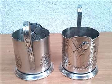 Skupoceni posrebreni držači za čaše čaj