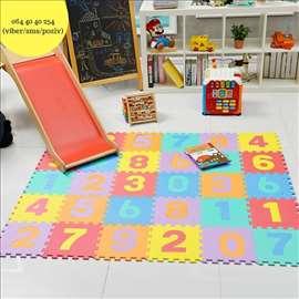 Podne mekane puzzle sa brojevima ili slovima