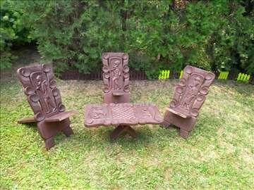 Sto i stolice -afrika -duborez