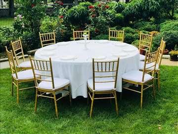 Tiffany stolice u zlatnoj boji