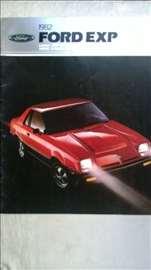 Prospekt Ford Exp 1982, 20 str. format prosireni A