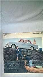 Prospekt Ford Taunus 12M,20 str. format 29x29 cm.e