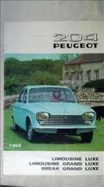 Prospekt: Peugeot 204, A4 format, 1968, 18 str, ne