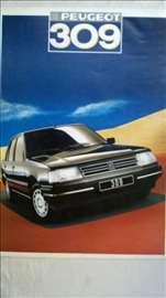 Prospekt: Peugeot 309, A4 format, 1987, 28 str, ne