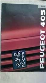 Prospekt: Peugeot 405 break, A4 format, 1989, 32 s