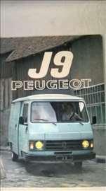 Prospekt: Peugeot J9,A4 format,1981,32 str,nem.