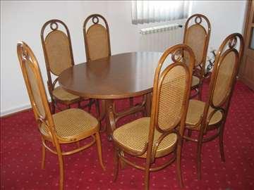 Sto i stolice od ratana