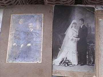 Stare fotografije na kartonu + poklon