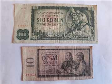 100 kruna 1961. god, 10 kruna 1960. god.