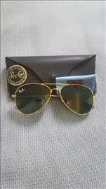 Ray Ban sunčane naočare Aviator Green-Gold