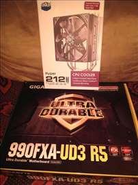 Matična ploča- 990FXA-UD3-R5 i Procesor fx 9590.