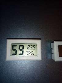 Merač vlage i temperature LCD -10 do 70 C, beli