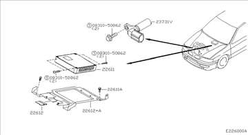 Nissan Primera 2.0TD P11 Senzor Radilice 96-01, NO