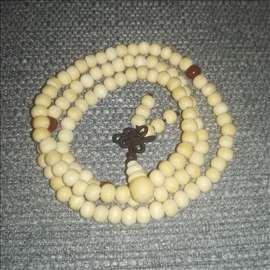 Budistička ogrlica, narukvica, slonovača-bela