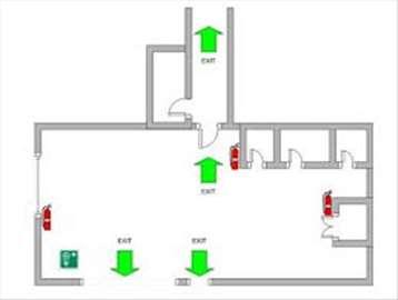 Izrada karte evakuacije