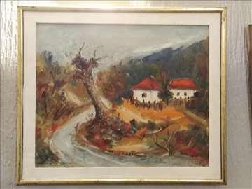 Pejzaž sa dve kuće