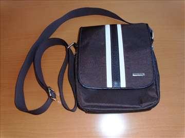 FALCO koža/platno torbica na rame