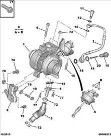 Pezo 407 2.0HDI Senzor Turbine, NOVO