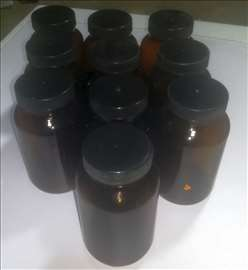 10 staklenih braon bočica - 225 ml