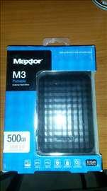 Eksterni hard disk Maxtor M3 500gb
