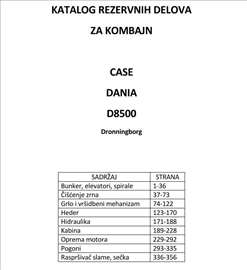 Case D8500 - katalog delova