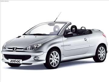 Razni i polovni delovi za Peugeot 206 CC 2003.god