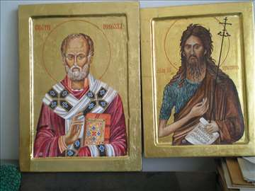 Ikone Sveti Nikola i Sveti Jovan