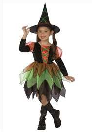 Veštica haljina i šešir za maskenbal