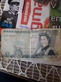 Novčanica od 5 britanskih funti