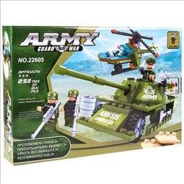 Kockice za sklapanje - Vojno vozilo i helikopter