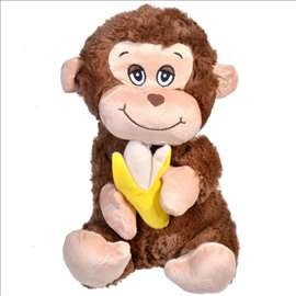 Plišani majmun sa bananom 31 cm