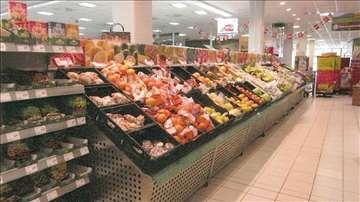 Police za voće i povrće, hleb