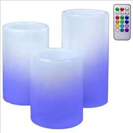 3 Sveće sa RGB LED svetlom koje se menja daljinski