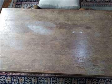 Prodajem garnituru trosed, fotelju, sto i tabure