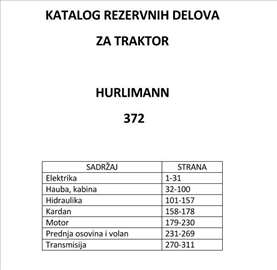 Hurlimann 372 - katalog delova