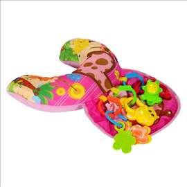 Jastuče sa igračkama za bebe - roze