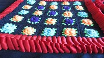 Jastučnice ružice od vunice- par