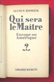 Ko će vladati, Evropa ili Amerika. Izdanje 1927.g.