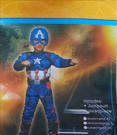 Kostim kapetan Amerika sa mišićima iz jednog dela