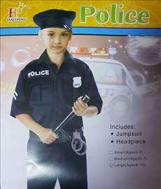 Kostim, policijski, za dečake
